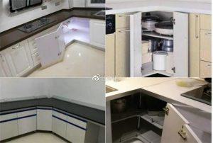 南昌新房装修厨房转角拉篮太贵,还可以用这个代替啊!