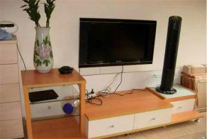 南昌家装客厅电视插座高度多少合适,这样的客厅才更清爽