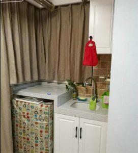 南昌阳台装修放洗衣机这样做空间变大,晾衣服更方便!