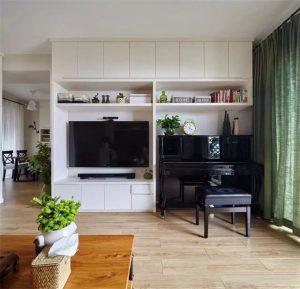 南昌装修117平实用北欧,不以电视为中心的客厅才叫生活